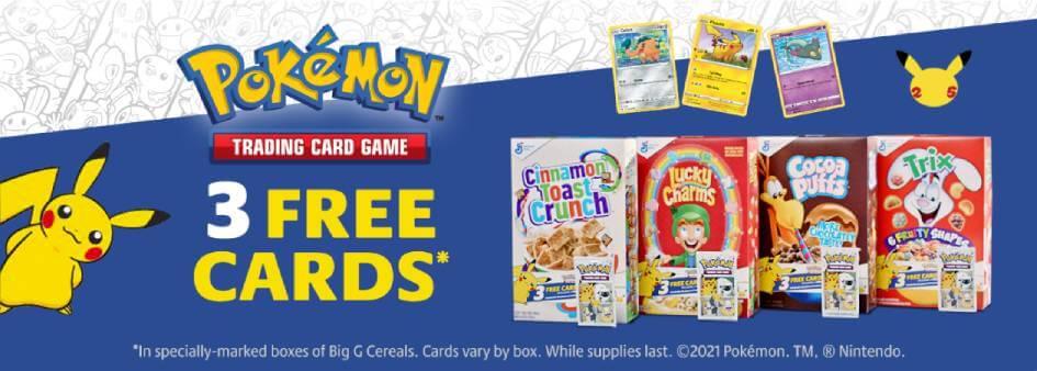 Pokemon 3 Free Cards Promo